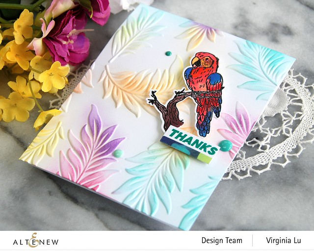 Altenew-Exotic Parrot Stamp & Die Bundle-Floating Foliage 3D Embossing Folder -002