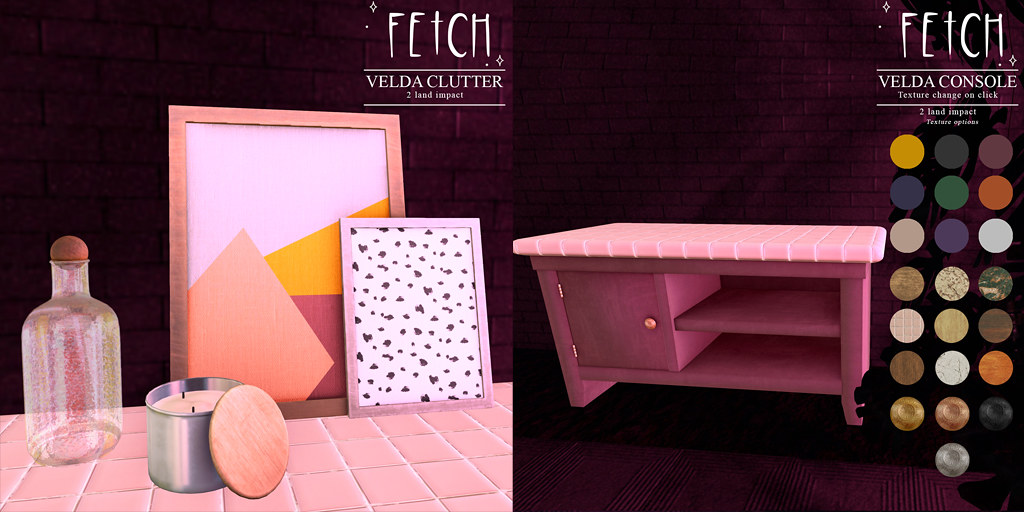 [Fetch] Velda Console & Clutter @ Fifty Linden Friday!