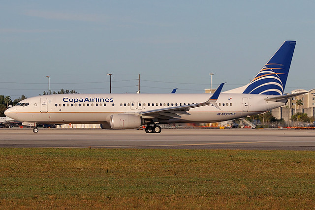 HP-1853CMP   Boeing 737-8V3/W   Copa Airlines
