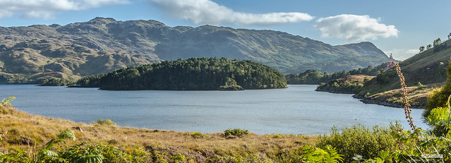 The resplendent hills, islands, forests and shores of Loch Morar, Inverness, Scotland.