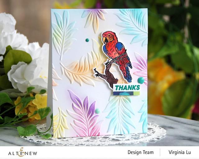 Altenew-Exotic Parrot Stamp & Die Bundle-Floating Foliage 3D Embossing Folder