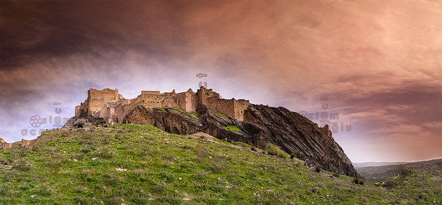 Panoramic view of Kahta Castle in Adıyaman after restoration. It is located on the route of Mount Nemrut National Park and has traces of three important civilizations in its architecture....