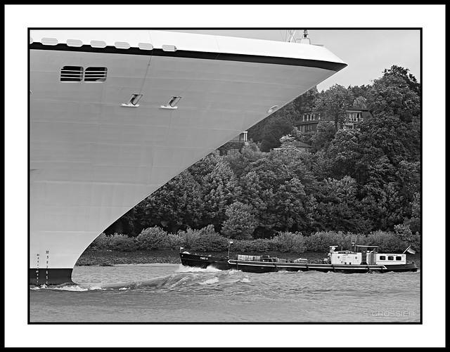 Cruise Ship Meets Oiler Barge