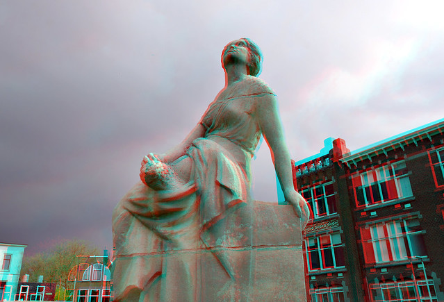 Monument Verbeeldingskracht J.H. van 't Hoff  Rotterdam 's-Gravendijkwal 3D Verbeeldingskracht