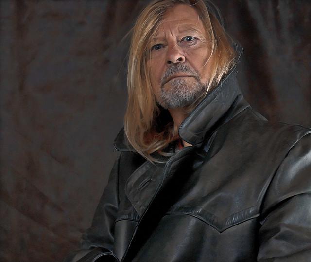Ego with black leather coat