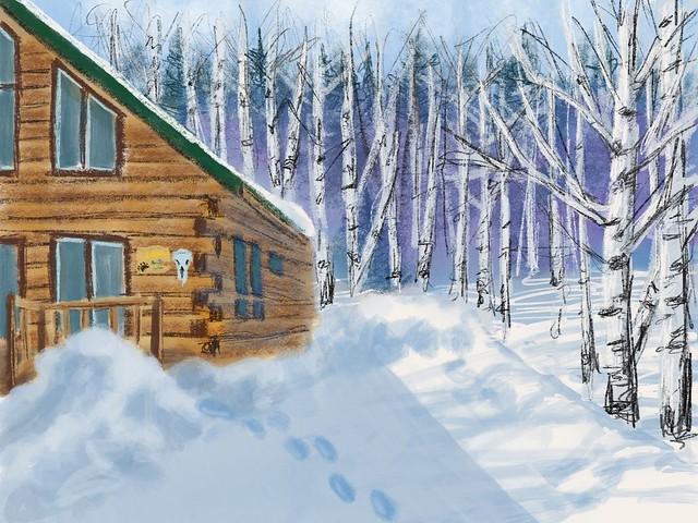 Cabin sketch digital