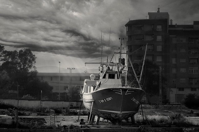 Barco en el Varadero