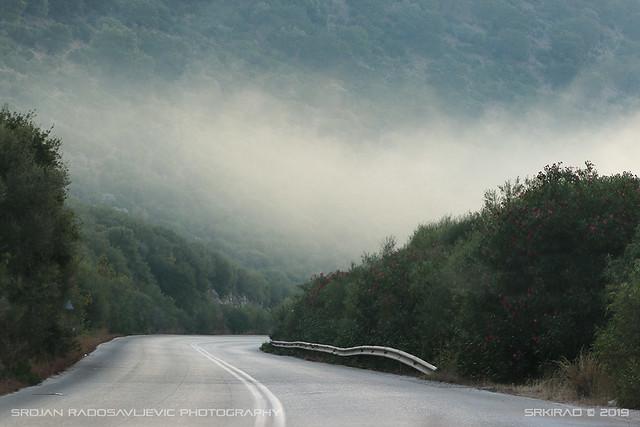 Misty morning near Parga