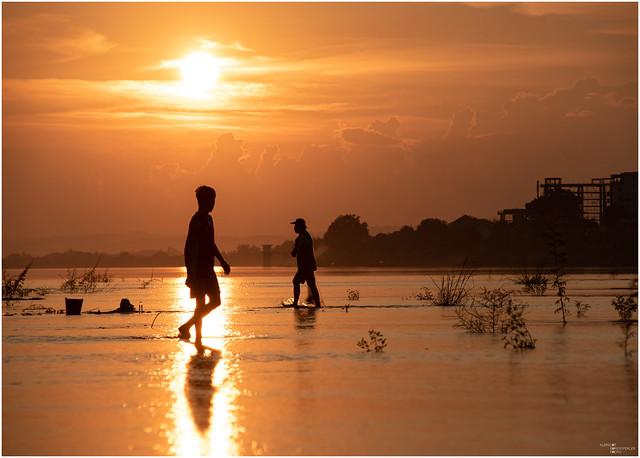 fishermen and golden hour