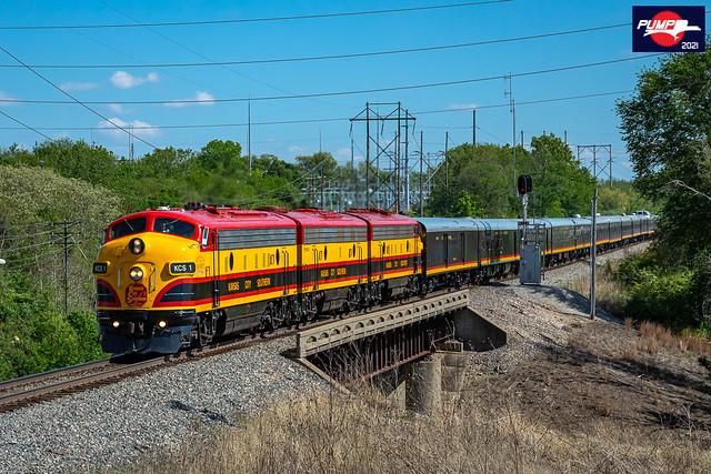 Northbound KCS Business Passenger Train at Kansas City, MO