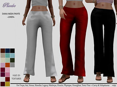 55L$ OFFER! *P* Dana Mesh Pants ~20 Linen HUD~