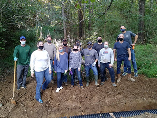 Group volunteering at Carolina Tiger Rescue