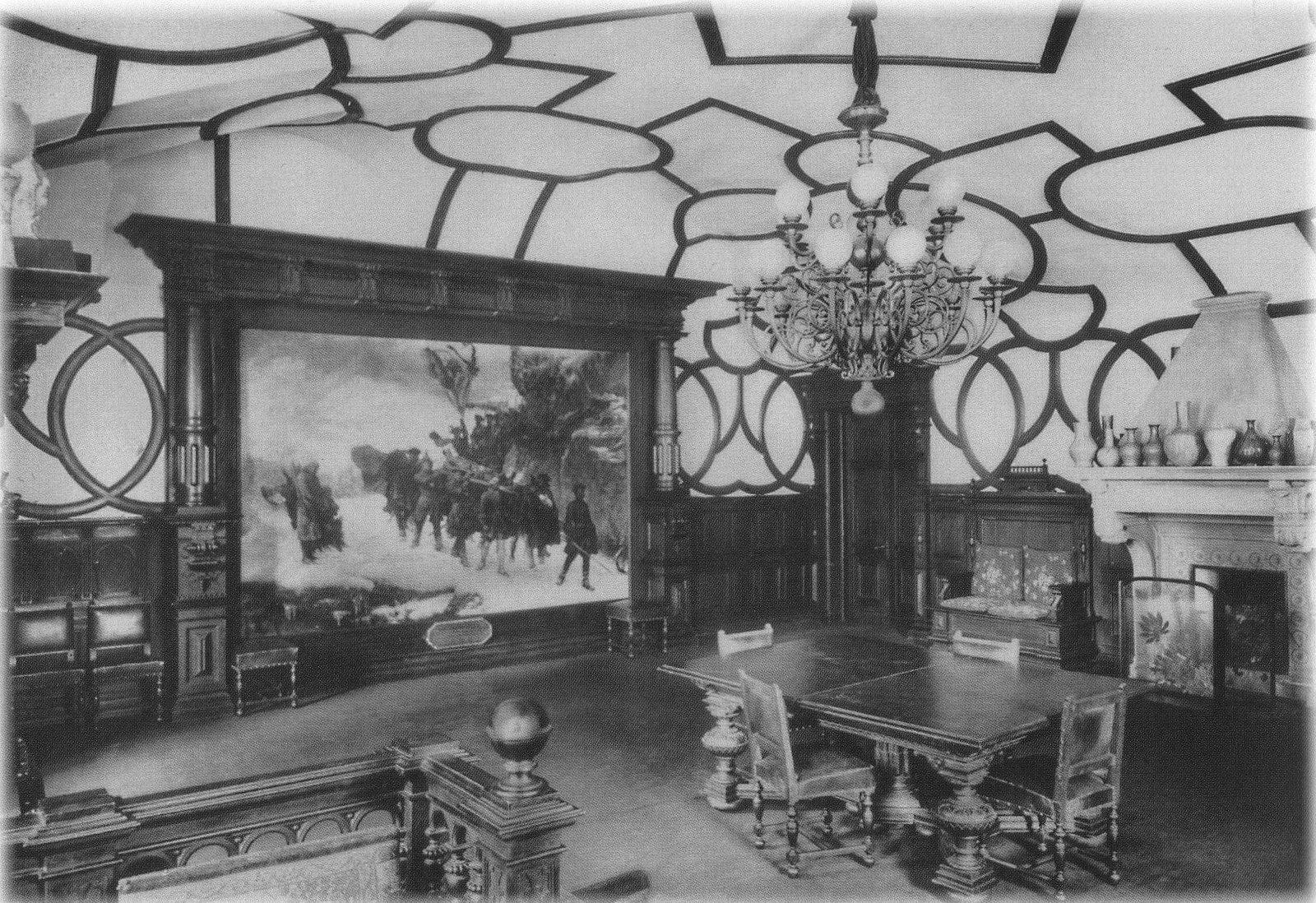 1904. Мраморный дворец. Личные покои великого князя К. К. Романова. Угловая гостиная