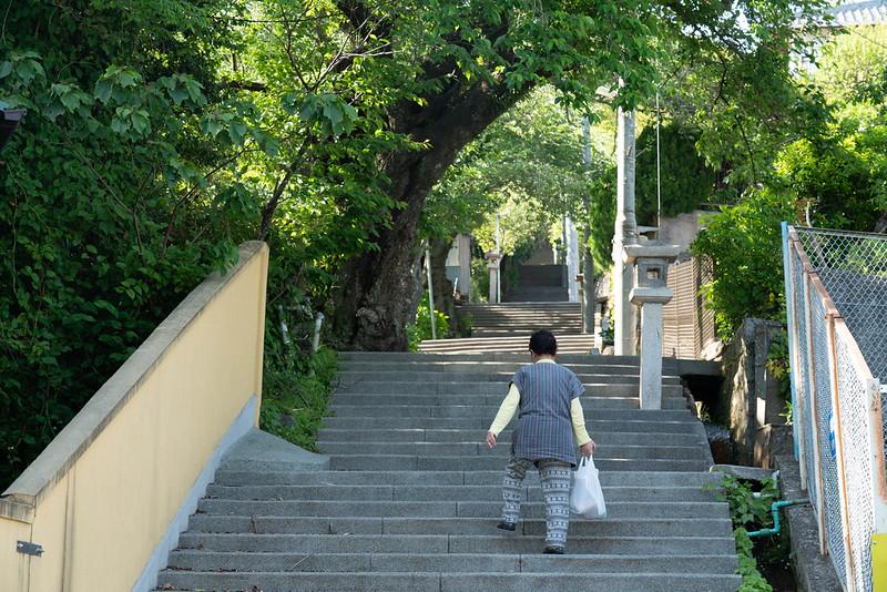伊豆山神社 階段