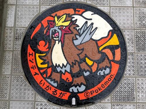 iIaruga Nara, manhole cover  4 (奈良県斑鳩町のマンホール4)