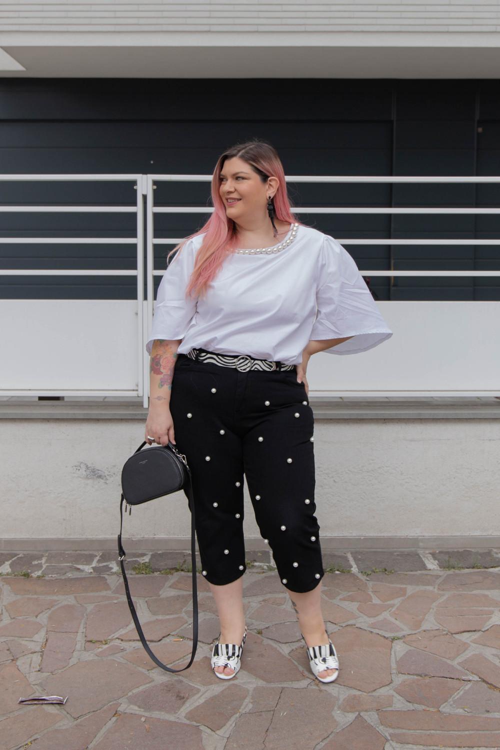 Curvy Color Challenge bianco e nero (2)