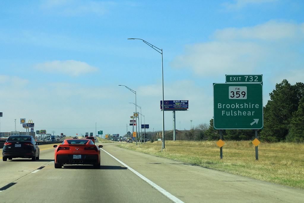 I-10 West - Exit 732 - FM359