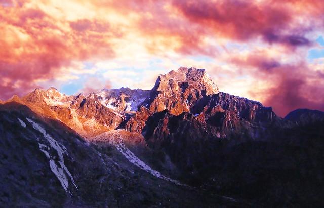 PATAGONIA - Mountains at sunset