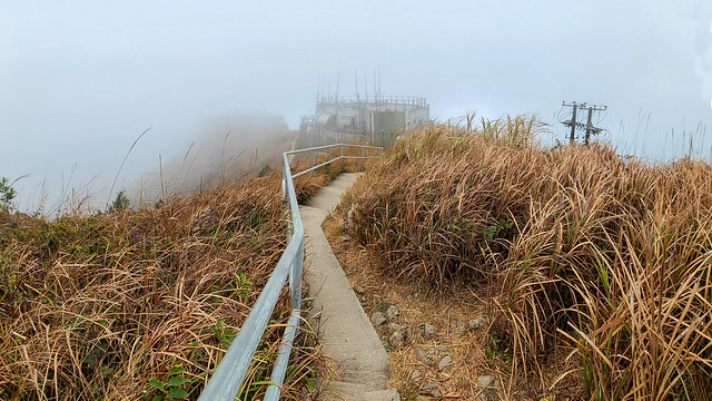 Foggy cloudy day at Kowloon Peak