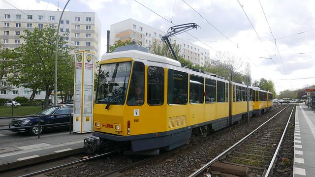 Berlin's Last Tatras - BVG ČKD Tatra/ Bautzen KT4D 6010 MetroTram M6Hohenschönhauser Straße, 10369 Berlin