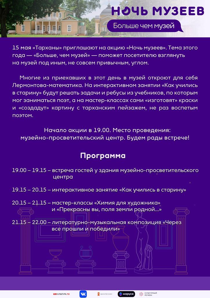 Акция «Ночь музеев — 2021»