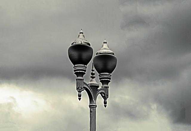 Lamppost in Gijón/Xixón. Conceyu d'Astúries