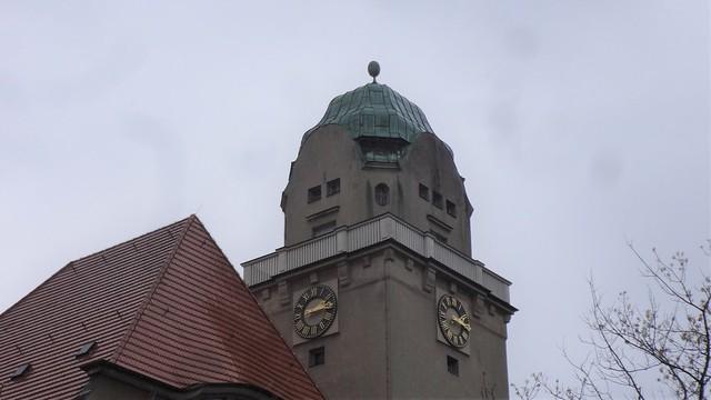 1907/09 Berlin repräsentativer Uhrturm am Arndt-Gymnasium von Friedrich Hennings/Wilhelm Hennings Königin-Luise-Straße 80-84 in 14195 Dahlem
