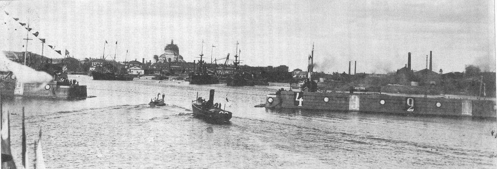 1913. Вход в Петровскую гавань. Кронштадт