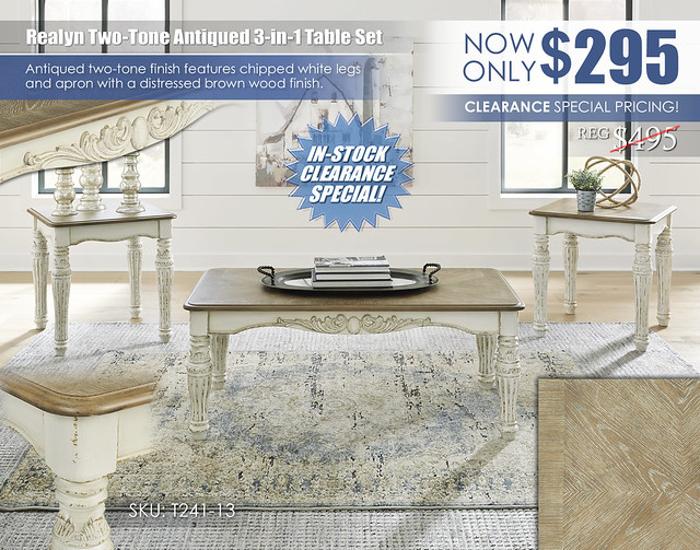 Realyn Two-Tone Antiqued 3 in 1 Table Set_T241-13_In Stock Update