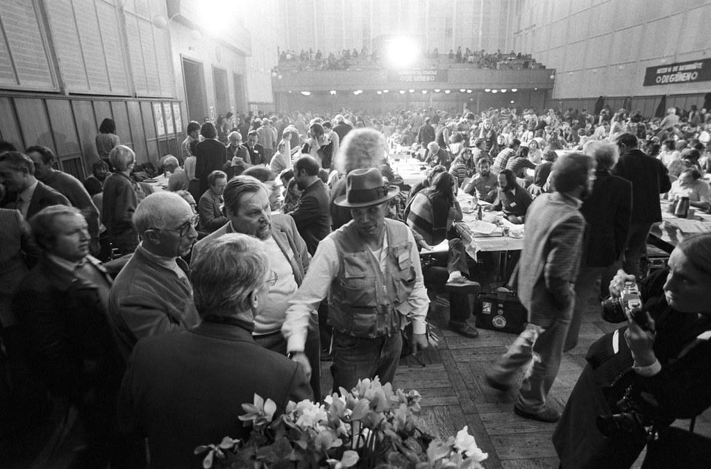 Gründungsparteitag der Grünen in der Stadthalle Karlsruhe am 12./13. Januar 1980, Joseph Beuys in der Stadthalle