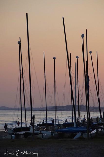 Atardecer en la playa de Calafell. Sunset at Calafell Beach