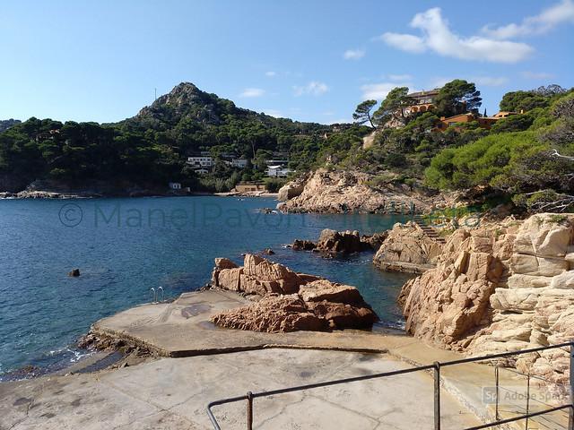 A punt per tirar-se a l'aigua, platja de Fornells, Begur (Catalunya) - A punto para zambullirse en el agua, playa de Fornells, Begur (Cataluña) - Ready to dive into water, Fornells'beach, Begur (Catalonia)