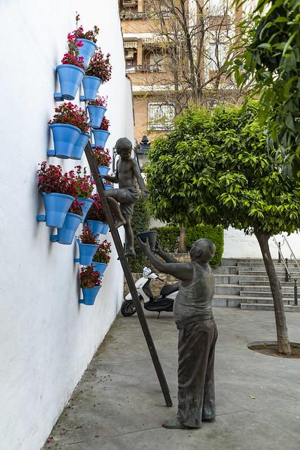 Homenaje a los cuidadores de los patios de Córdoba