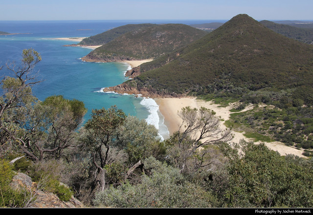 View from the Tomaree Head Summit, Port Stephens, Australia