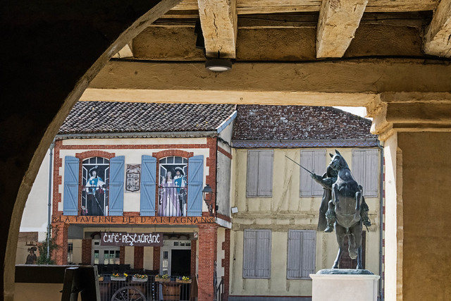 Lupiac, village natal de D'Artagnan (Gers, 2021)