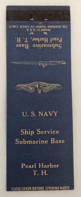 SHIP SERVICE SUBMARINE BASE PEARL HARBOR TERRITORY OF HAWAII