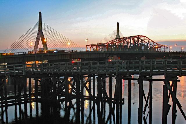 A Wharf and Two Bridges