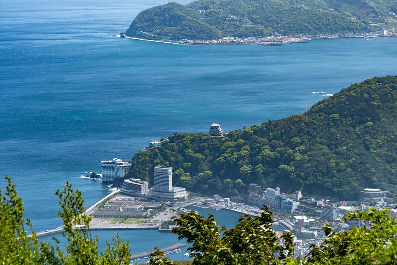 岩戸山山頂から見える熱海の街