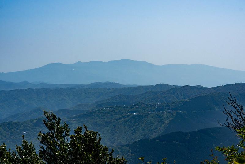 岩戸山山頂から見える天城山