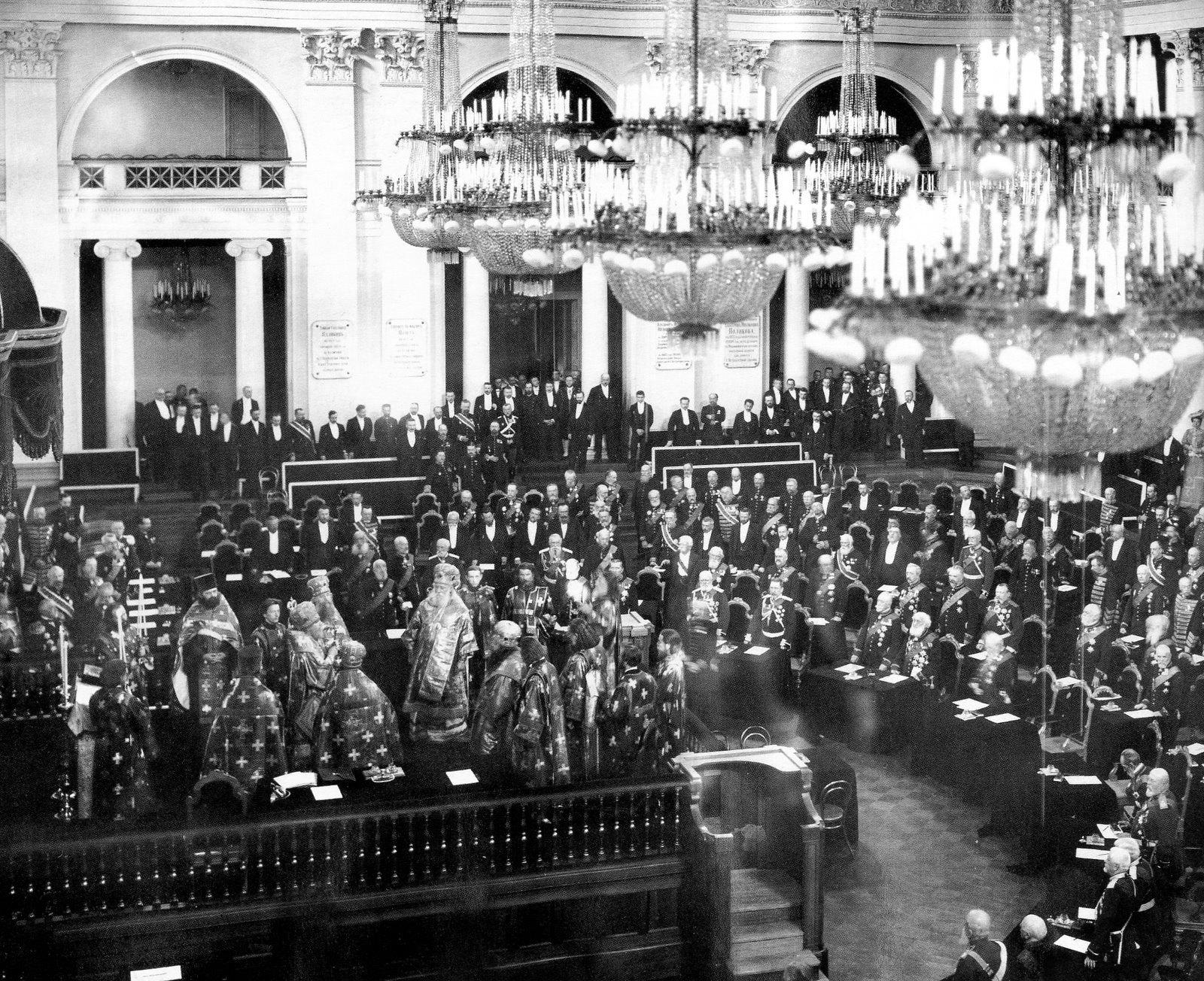 1906. Молебен в зале Дворянского собрания Санкт-Петербурга