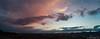 Panoramica al cielo durante un tramonto