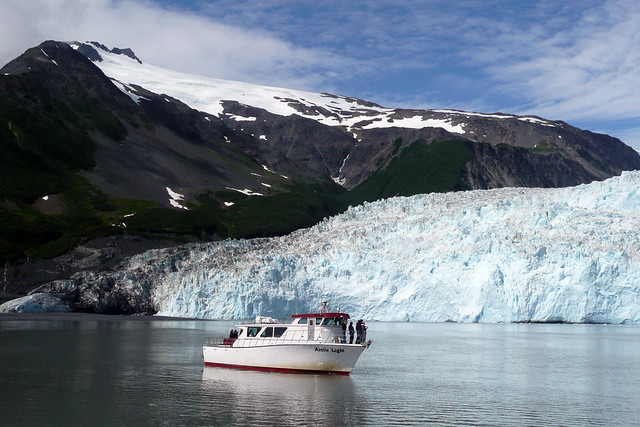 Aialik Glacier in Kenai Fjords National Park, Alaska