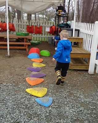 making an obstacle course for himself