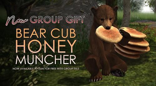 NEW **Group Gift** @ JIAN - Bear Cub Honey Muncher
