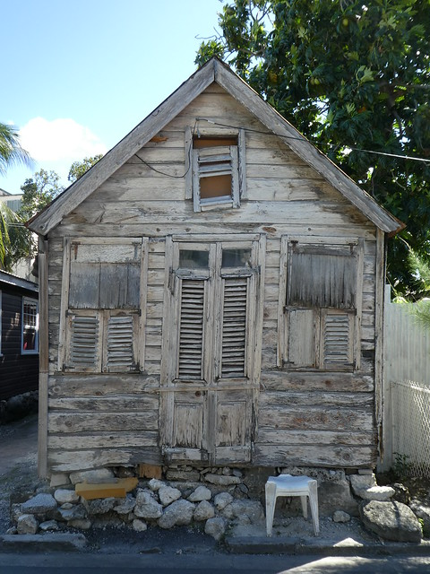 Bridgetown, Barbados - Unpainted Chattel House
