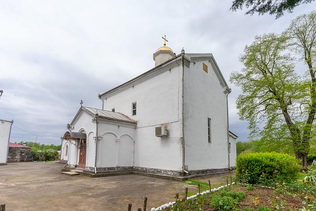 Badly restored Ilori Church (Church of St. George of Ilori), Ilori, Ochamchira District, Abkhazia