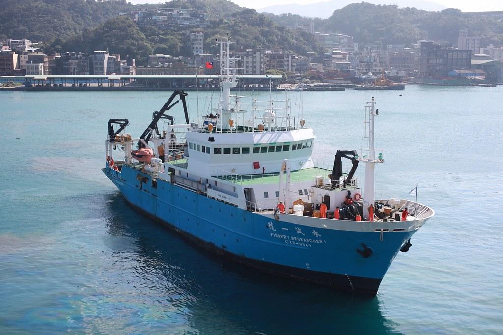 20210430海保署啟動「台灣海域生態大調查」。行政院農業委員會水產試驗所水試一號試驗船。圖片提供:水試所