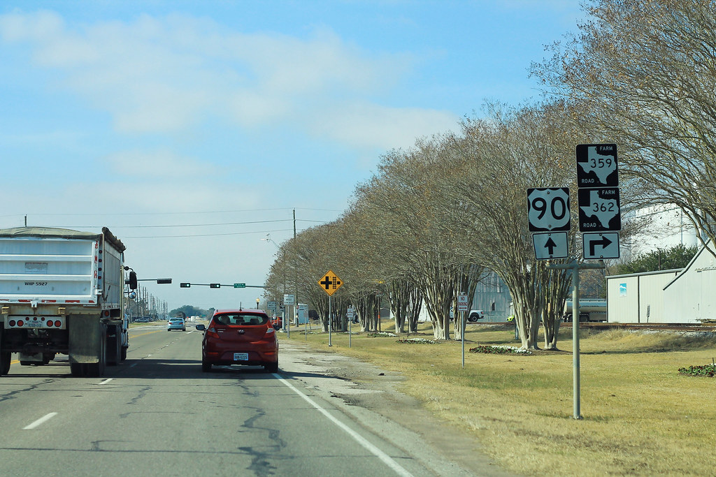 US90 West at FM359 and FM362 Signs