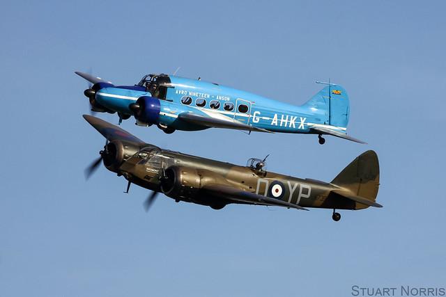 Blenheim L6739 G-BPIV and Avro Nineteen Anson G-AHKX