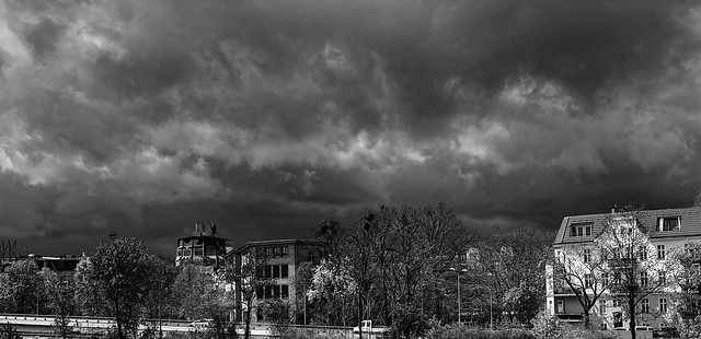 dark clouds over Berlin